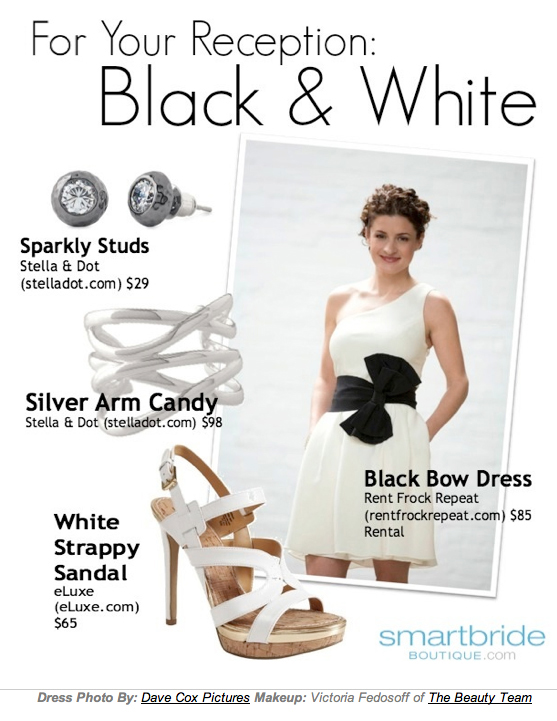 Bridal style notes w/ Smartbride – Creating the perfect Black and White outfit for your reception.
